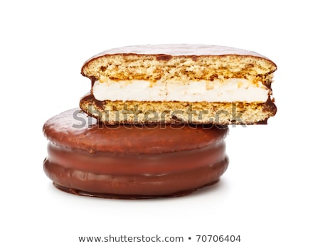 Stock photo: chocolate sandwitch biscuits