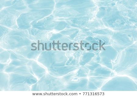 Azul superfície da água ciano piscina água abstrato Foto stock © simply