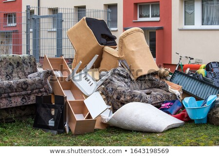 Landfill. Old furniture at the garbage dump. Stock photo © wellphoto