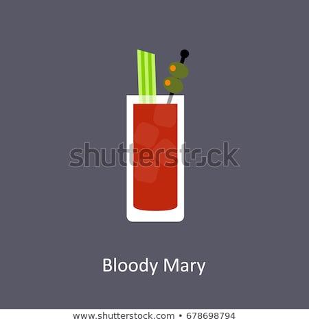 Véres shake nedves üveg tele paradicsomlé Stock fotó © Fisher