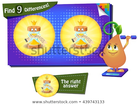 game find 9 differences hourglass Stock photo © Olena