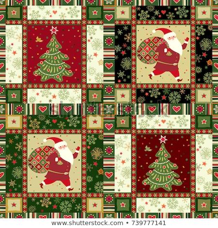 Végtelenített piros ajándék mikulás zsák képregény Stock fotó © rogistok