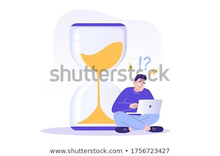 tiempo · ilustración · 3D · prestados · imagen · blanco - foto stock © lightsource