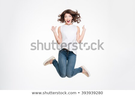 Female jumping in the air. Stock photo © IS2