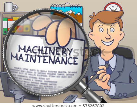 Maszyn przemysłu obiektyw gryzmolić stylu papieru Zdjęcia stock © tashatuvango