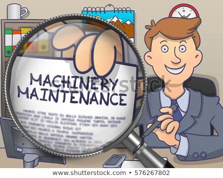 Machines industrie lentille doodle style papier Photo stock © tashatuvango