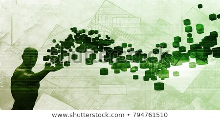 Alkalmazás fejlesztő 3D bizalmas hirdetés újság Stock fotó © tashatuvango