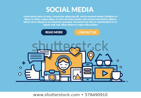 Social Media Marketing Concept with Doodle Design Icons. Stock photo © tashatuvango
