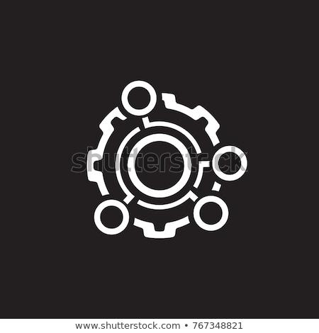 Technische gegevens icon versnelling optie engineering Stockfoto © WaD