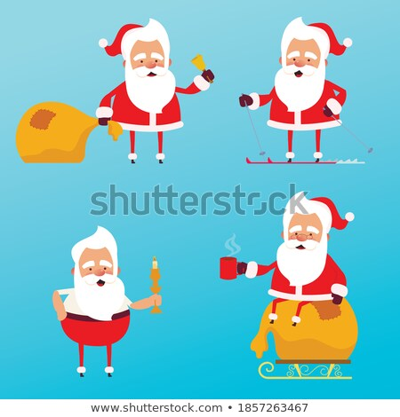Regalo Navidad bolsa emociones establecer Foto stock © rogistok