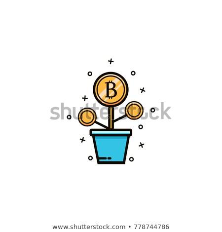 Bitcoinの ツリー 緑 葉 お金 マイニング ストックフォト © romvo