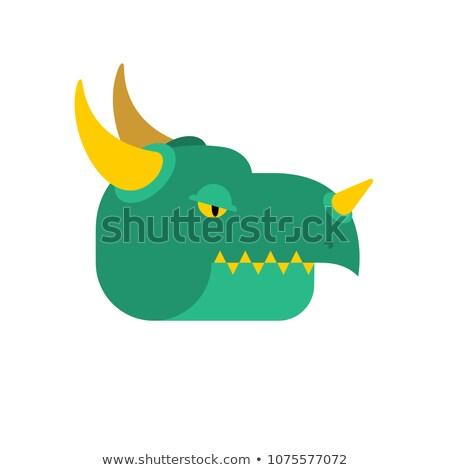 dragón · negro · deporte · diseno · blanco · y · negro · gótico - foto stock © popaukropa