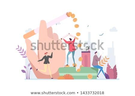 ビジネスマン 喫煙 インフェルノ 効果 オフィス 手 ストックフォト © ra2studio