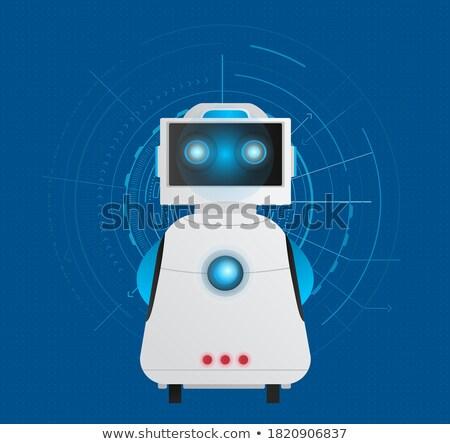 robot · visage · industrielle · style · design · ordinateur - photo stock © robuart