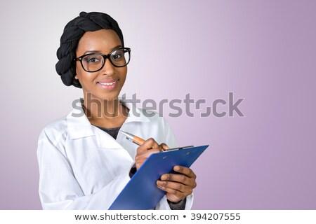 мусульманских женщину друга больницу цветы кровать Сток-фото © artisticco