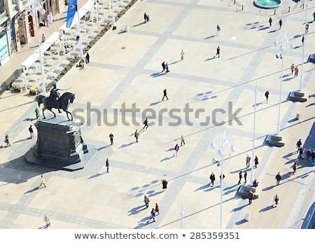 católico · igreja · centro · cidade · viajar · nuvem - foto stock © xbrchx