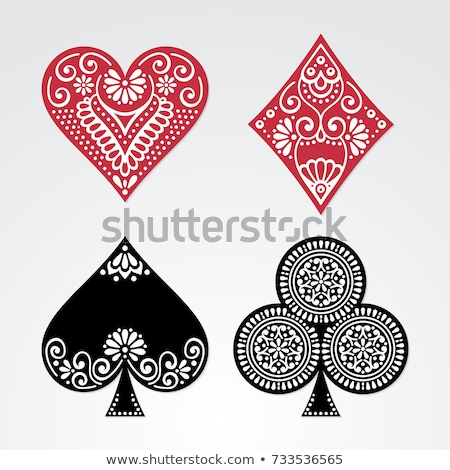 Playing Card Queen of Clubs Yellow Red Blue Black Stock photo © Krisdog
