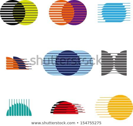Foto stock: Preto · círculo · globo · logotipo · da · empresa · vetor · ícone