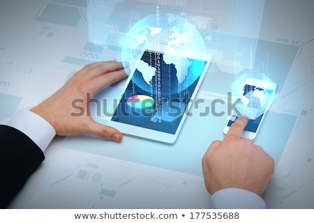 бизнесмен · виртуальный · мира · бизнеса · реальность - Сток-фото © dolgachov