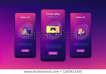 Spelen app interface sjabloon video game verschillend Stockfoto © RAStudio