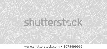 Mappa pattern ripetibile bianco nero città piano Foto d'archivio © biv