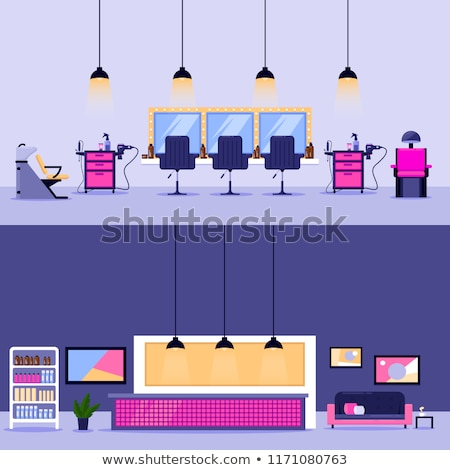 spa salon hairdressers hair styling set vector stock photo © robuart
