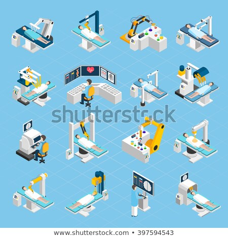 Medical Robot Treating A Patient Vector. Isolated Illustration Stock photo © pikepicture