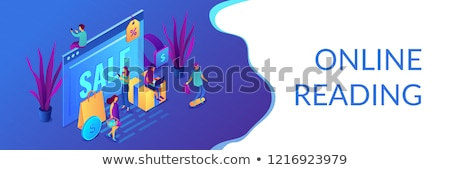 online sales pro concept isometric 3d banner header stock photo © rastudio