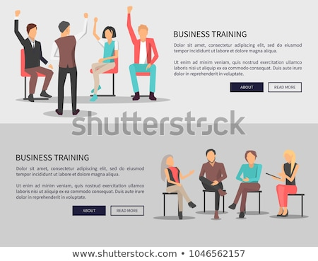 Business and Work, Boss and Employees Web Posters Stock photo © robuart
