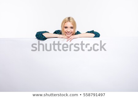 animado · pessoas · de · negócios · vazio · bandeira · grupo - foto stock © doodko