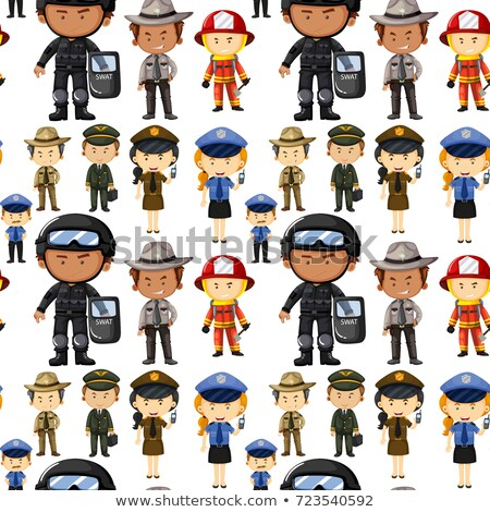 Seamless background with different kinds of jobs Stock photo © colematt