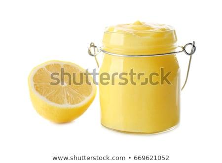 Nyami citrom üveg bögre friss citromok Stock fotó © YuliyaGontar