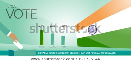 abstract election vote india background Stock photo © SArts