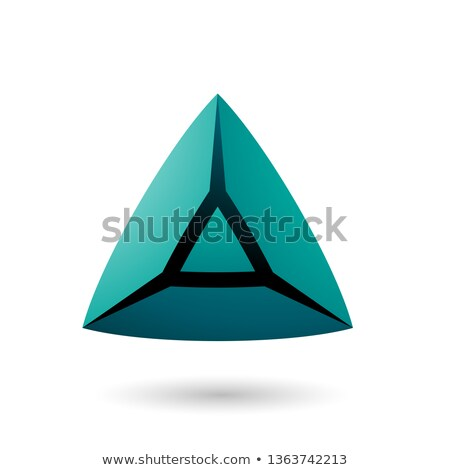 Green and Bold 3d Pyramid Vector Illustration Stock photo © cidepix