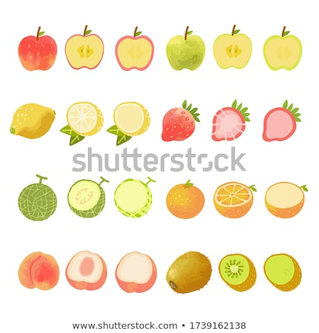 Strawberry and kiwi on white background. Watercolor illustration Stock photo © ConceptCafe