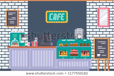 Restaurant Menu Table Outdoors, Exterior of Store Stock photo © robuart