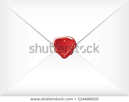 Post envelope sealed by a heart Stock photo © mayboro