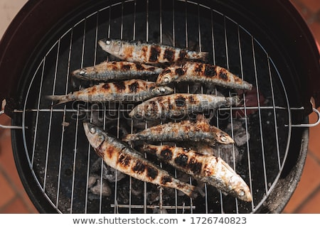 spanish grilled sardines in a plate Stock photo © nito