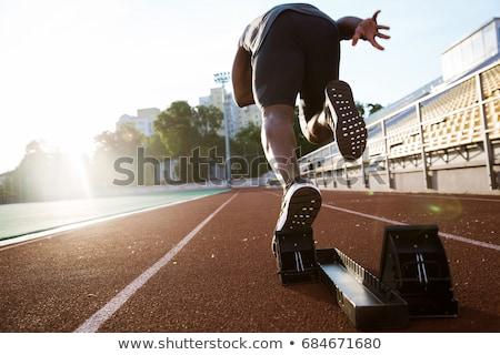 Sprinter on racetrack Stock photo © pressmaster