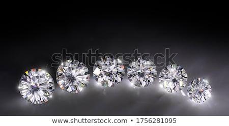 три большой блестящий Cut алмазов черный Сток-фото © Arsgera