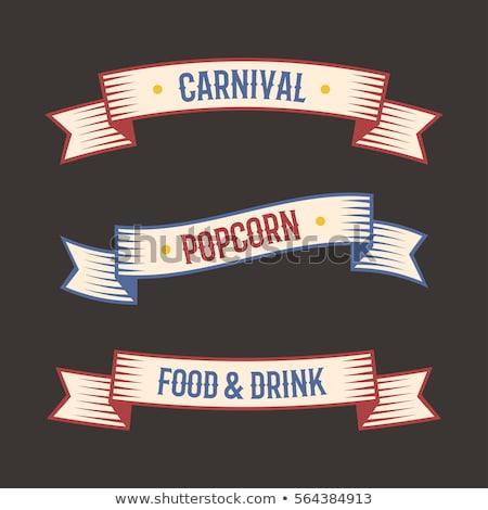 Izolált cirkusz szalag illusztráció buli terv Stock fotó © bluering