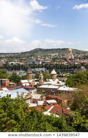 Cityscape of Georgian captial Tbilisi Stock photo © boggy