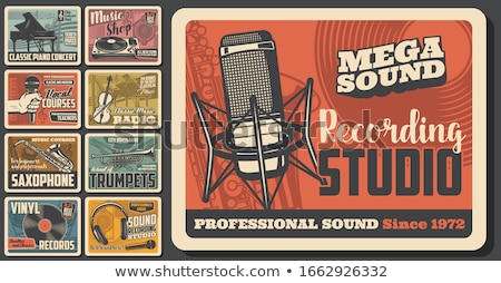 Vintage audio store poster musica studio Foto d'archivio © netkov1