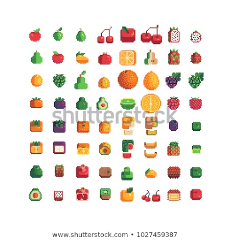 Kiwi Fruit Pixel Art 8 Bit Video Game Icon Stock photo © Krisdog