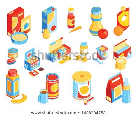 Stock photo: Organic Meal, Pure Nature, Bio Products Jars Set