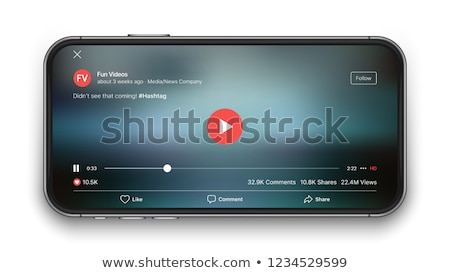 Smartphone social media mobile video youtube player interface. Play video online mock up. UI window  Stock photo © MarySan