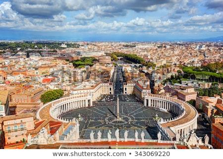 St. Peter's Square colonnades Stock photo © Alex9500