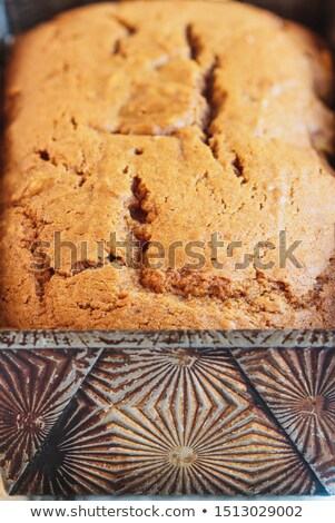 Close up of freshly baked pumpkin bread still in the pan   Stock photo © StephanieFrey