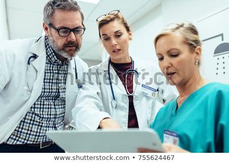 médecin · discussion · patient · clinique · vue - photo stock © andreypopov