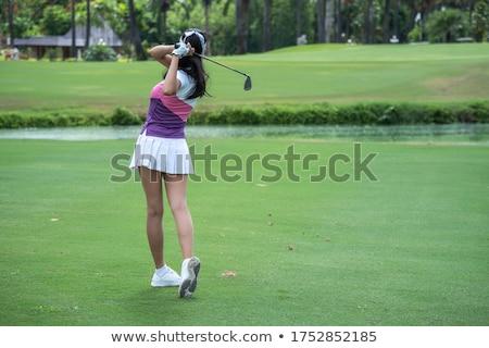 Mulher jogador de golfe feminino motorista clube Foto stock © lichtmeister